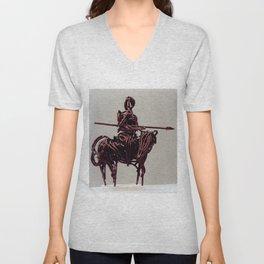 Don Quixote by Shimon Drory Unisex V-Neck