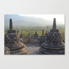 Sight view in Chandi Borobudur Canvas Print