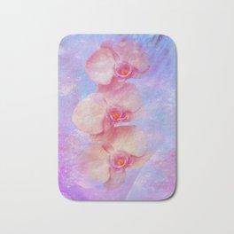 Rosa Orchideen Bath Mat