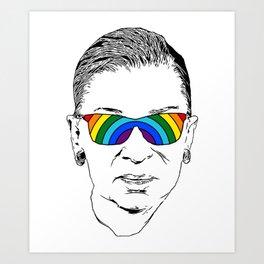 RBG Rainbow Art Print