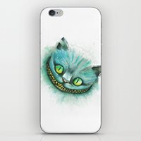 cheshire cat iPhone & iPod Skins featuring Cheshire Cat by digiartpicture