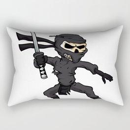 skull ninja cartoon. Rectangular Pillow