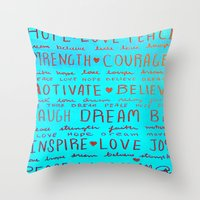 motivation Throw Pillows featuring Motivation by EileenAArt