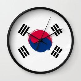 South Korea's Flag Design Wall Clock