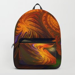 Energy, fractal abstract Backpack