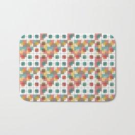 Semi-transparent squares Bath Mat