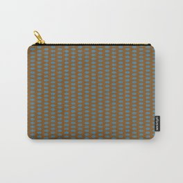 brown turquoise polk dots Carry-All Pouch