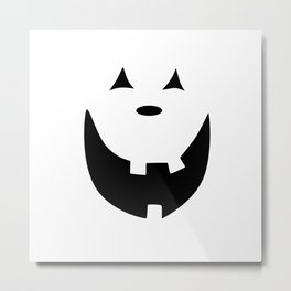 Happy Jack O'Lantern Face Metal Print