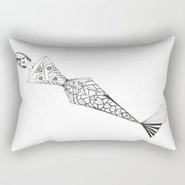 mermaid lady Rectangular Pillow