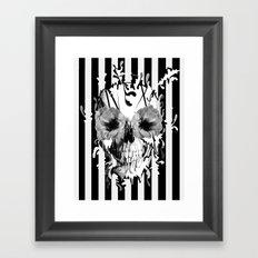 Limbo, Skull with poppy eyes Framed Art Print