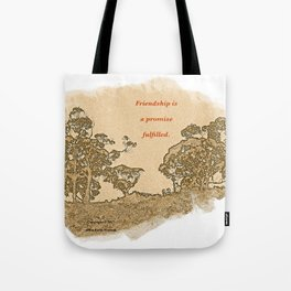 """""""Trees Of Catalina #2""""/Simple Friendship Tote Bag"""