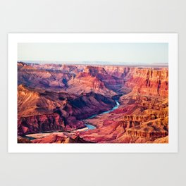 Grand Canyon Park USA Arizona Nature canyons Scenery river Canyon landscape photography Rivers Art Print