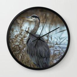 Ridgefield Heron, No. 1 Wall Clock