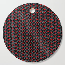 Covered in Vinyl / Vinyl records arranged in scale pattern Cutting Board