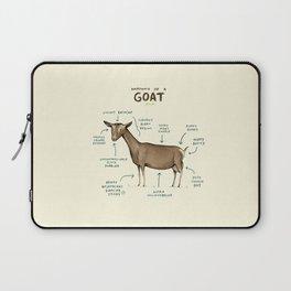 Anatomy of a Goat Laptop Sleeve