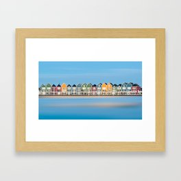 Bright coloured houses - Houten in Netherlands Framed Art Print