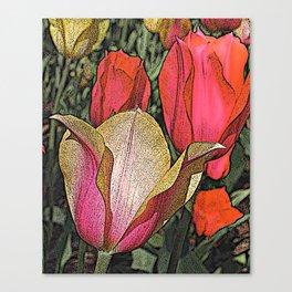Graphic Tulips  Canvas Print