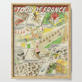Tour de France Comic Book Serving Tray