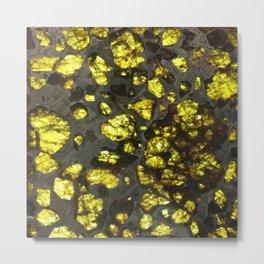 Yellow Cystal Ore Metal Print
