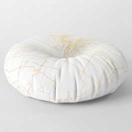 OTTAWA CANADA CITY STREET MAP ART Floor Pillow