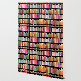 Vintage Book Library for Bibliophile Wallpaper