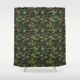 U.S. Woodland Camo Shower Curtain
