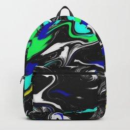 Glitch Swirly Marble Backpack