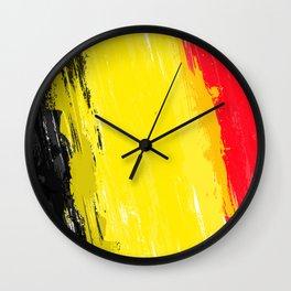 Belgium's Flag Design Wall Clock