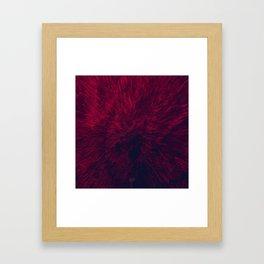 Bold Burst in Red Framed Art Print