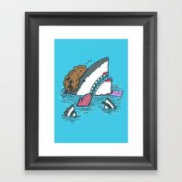 The Mom Shark Framed Art Print