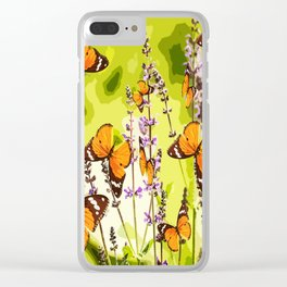 Butterflies and flowers - summery atmosphere in late summer - #pivivikstrm #buyart Clear iPhone Case