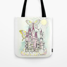 Melting Icecream Fairy Castle Tote Bag