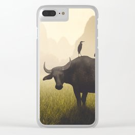 Water Buffalo And Egrets Clear iPhone Case