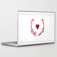 poker Laptop & iPad Skins featuring POKER HEART  by Noly Riv Mir