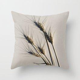 prairie wheat Throw Pillow