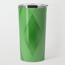 Wicker triangular strokes of intersecting sharp lines with malachite triangles and stripes. Travel Mug