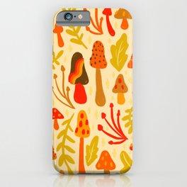 Spring Mushroom Print iPhone Case