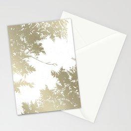 Night's Sky White Gold Stationery Cards