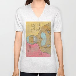 DON'T FORGET JESUS IS WATCHING Unisex V-Neck