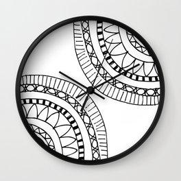 Bohemian Circle Sketch Wall Clock