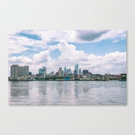 1513 - Philadelphia Cityscape from New Jersey Canvas Print