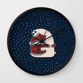 Cuddly Winter Bears Wall Clock