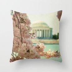 DC Cherry Blossoms Throw Pillow
