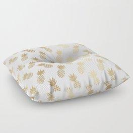 Gold Pineapple Pattern Floor Pillow