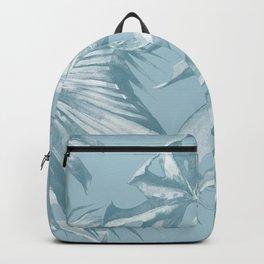 Island Dream Teal Palm Leaves Backpack
