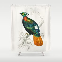 Bird Illustration Shower Curtain