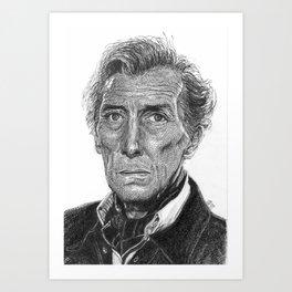 Peter Cushing Art Print
