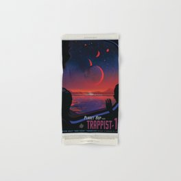 NASA Visions of the Future - Planet Hop from Trappist-1e Hand & Bath Towel