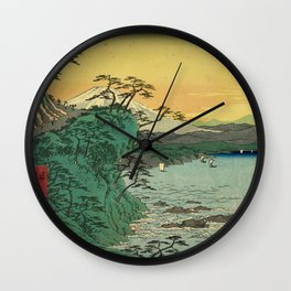 Vintage Japanese Art Poster Wall Clock