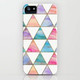 Marble Triangles Pattern iPhone Case